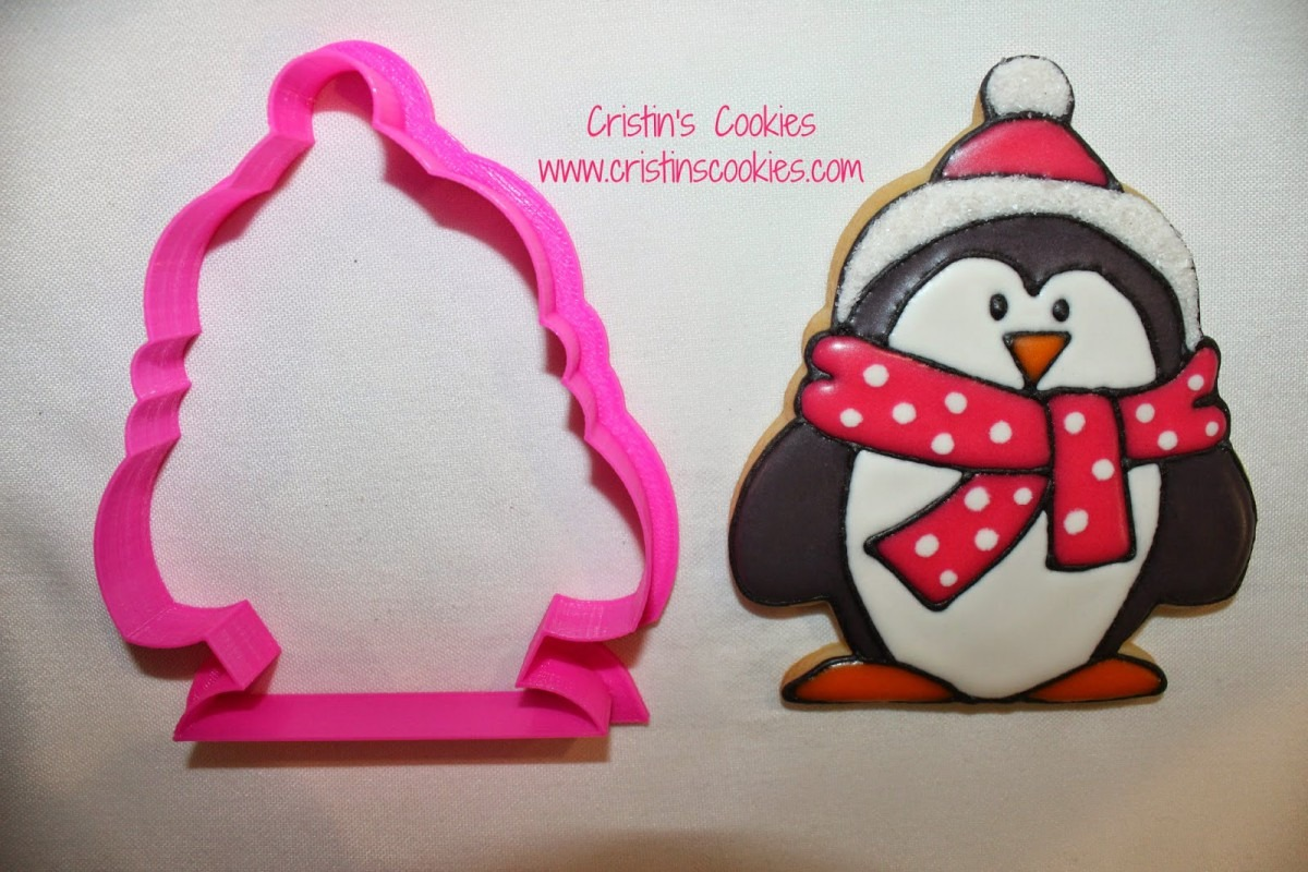 Cristin's Cookies  Penguin Cookies With Cookie Cutter In Two Sizes