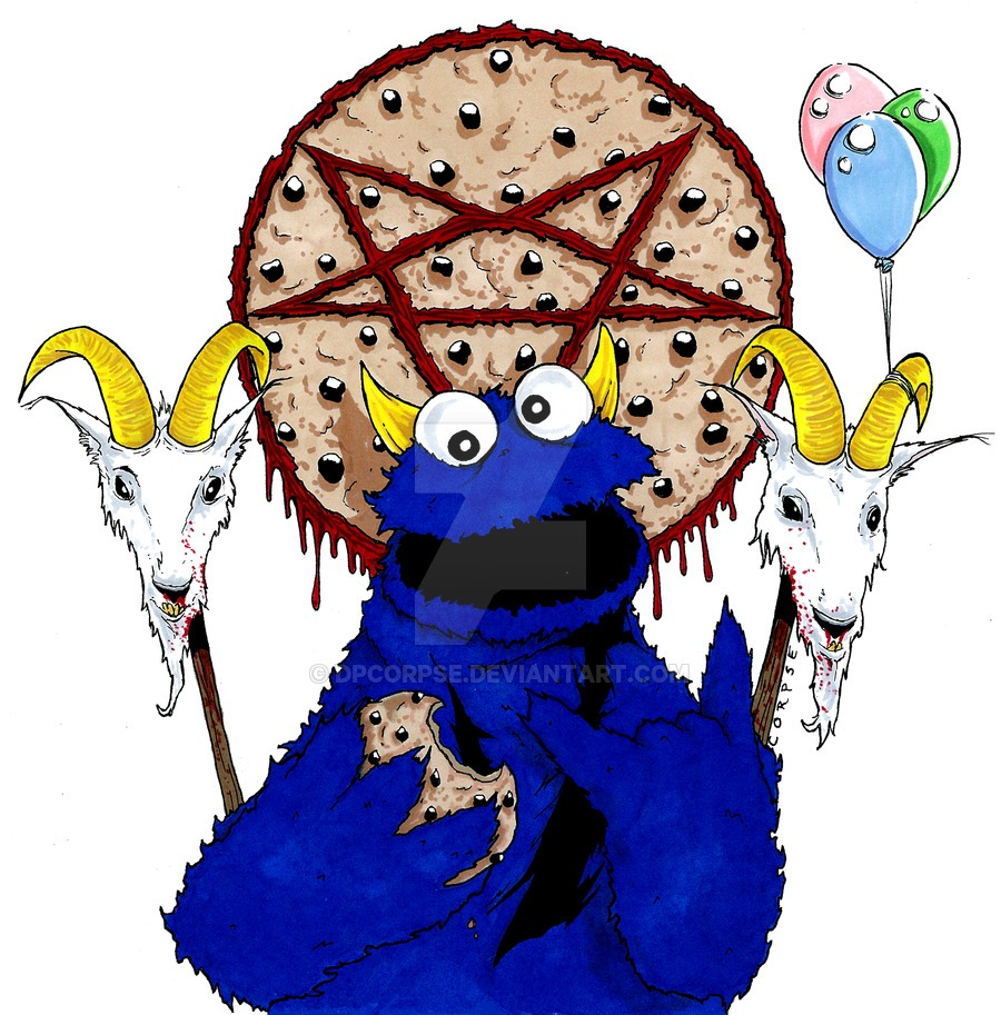 Evil Cookie Monster By Dpcorpse On Deviantart