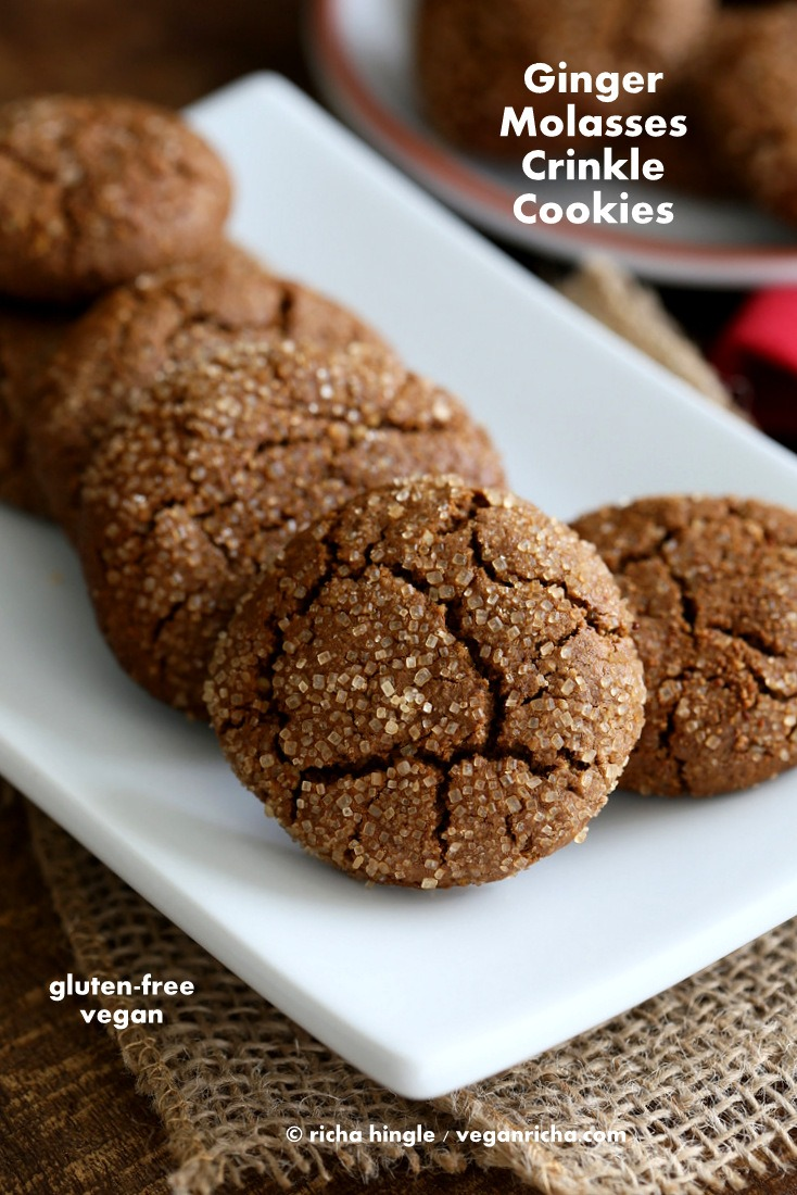 Gluten Free Ginger Molasses Cookies