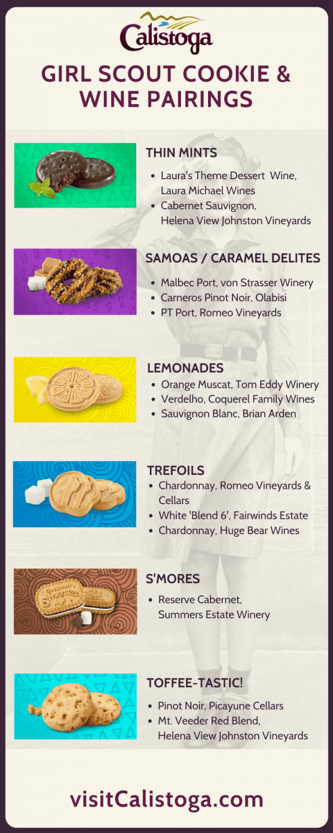 Girl Scout Cookies & Calistoga Wine Pairings