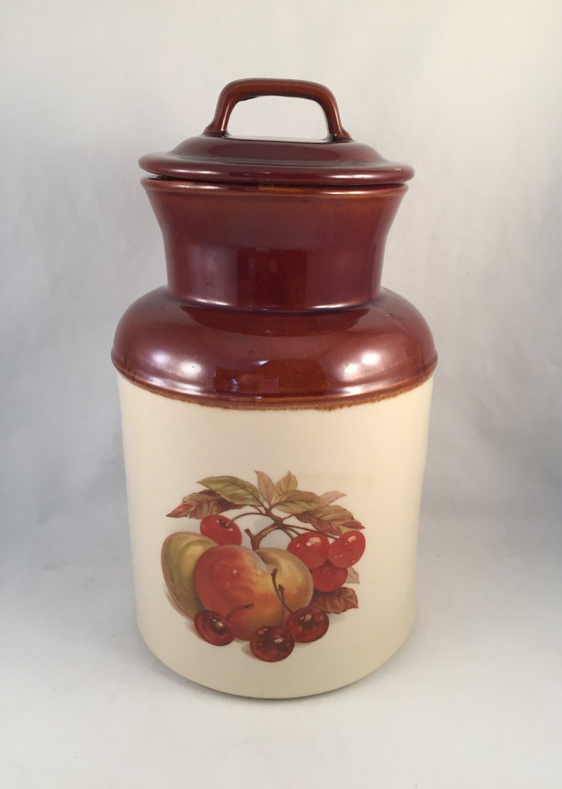 Extra Large Mccoy Cookie Jar Milk Can Shaped Crock Two Tone
