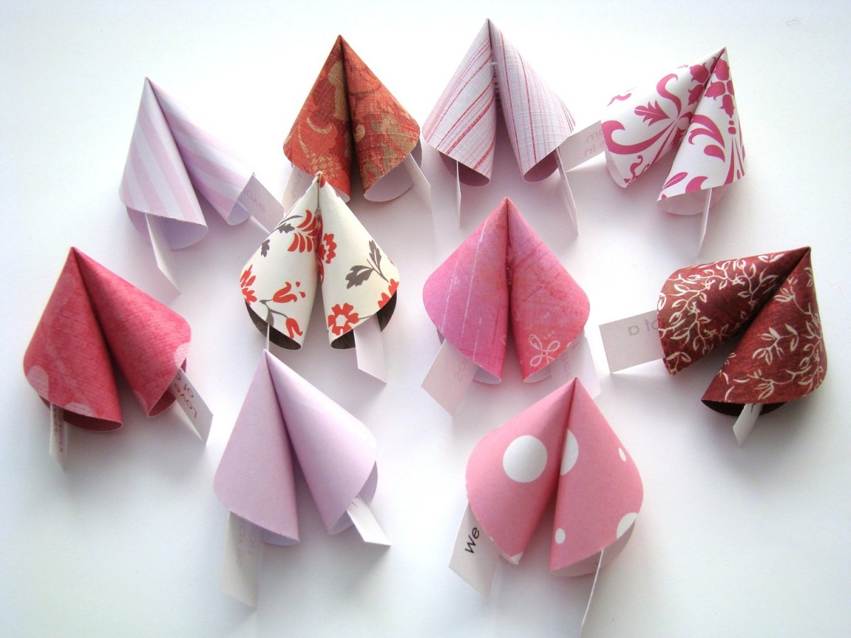 Love Themed Origami Fortune Cookies