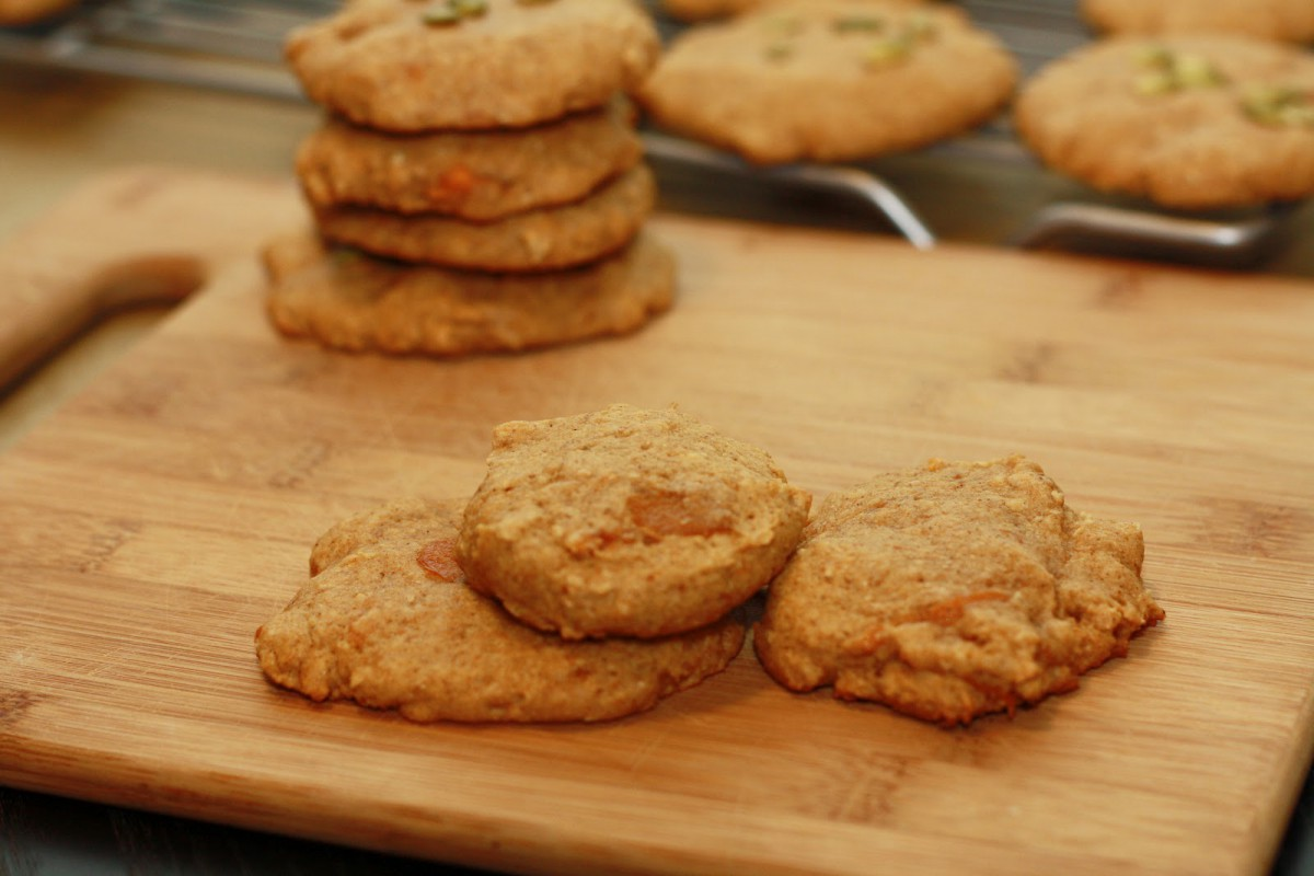 K's Veg Recipes  Persimmon Pumpkin Cookies