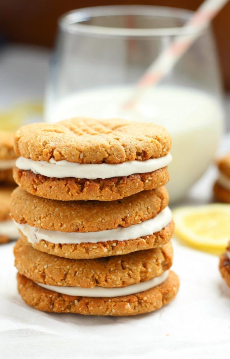Lemon Coconut Cream Sandwich Cookies {paleo}