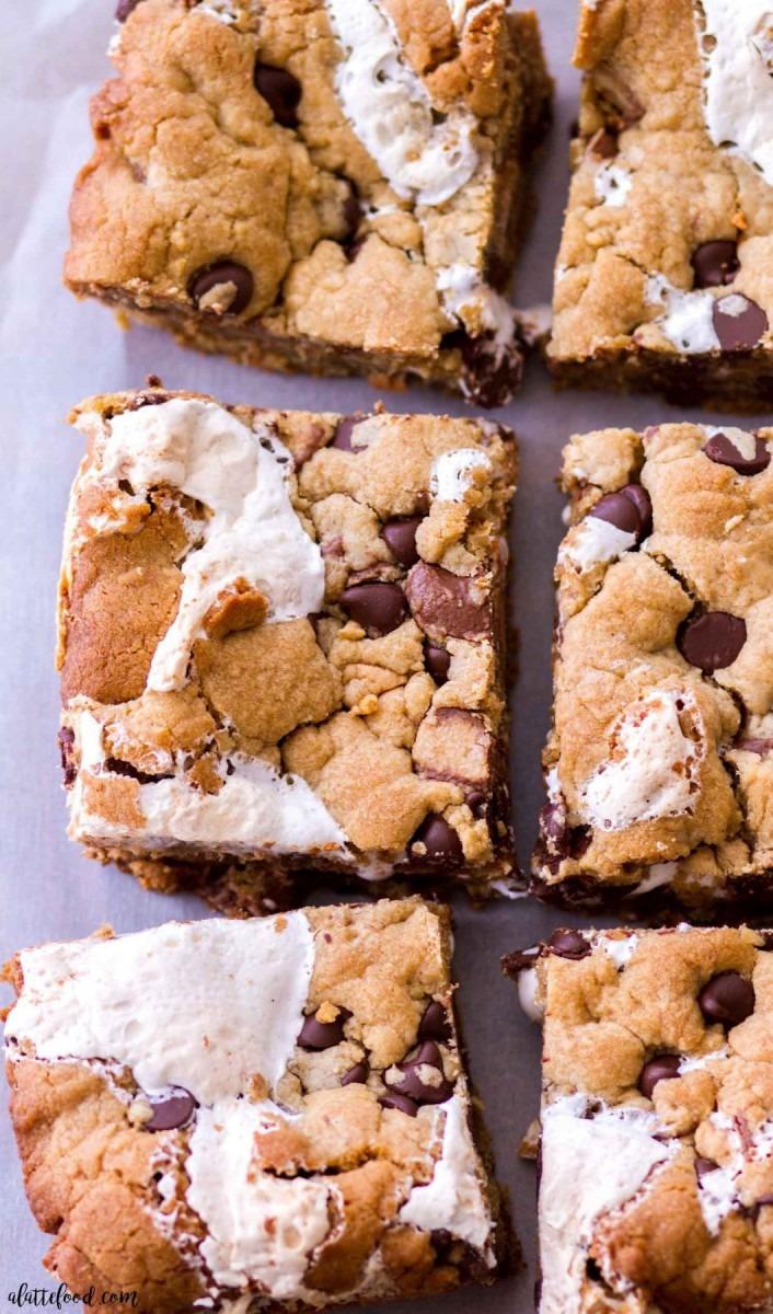 Marshmallow Peanut Butter Cookie Bars