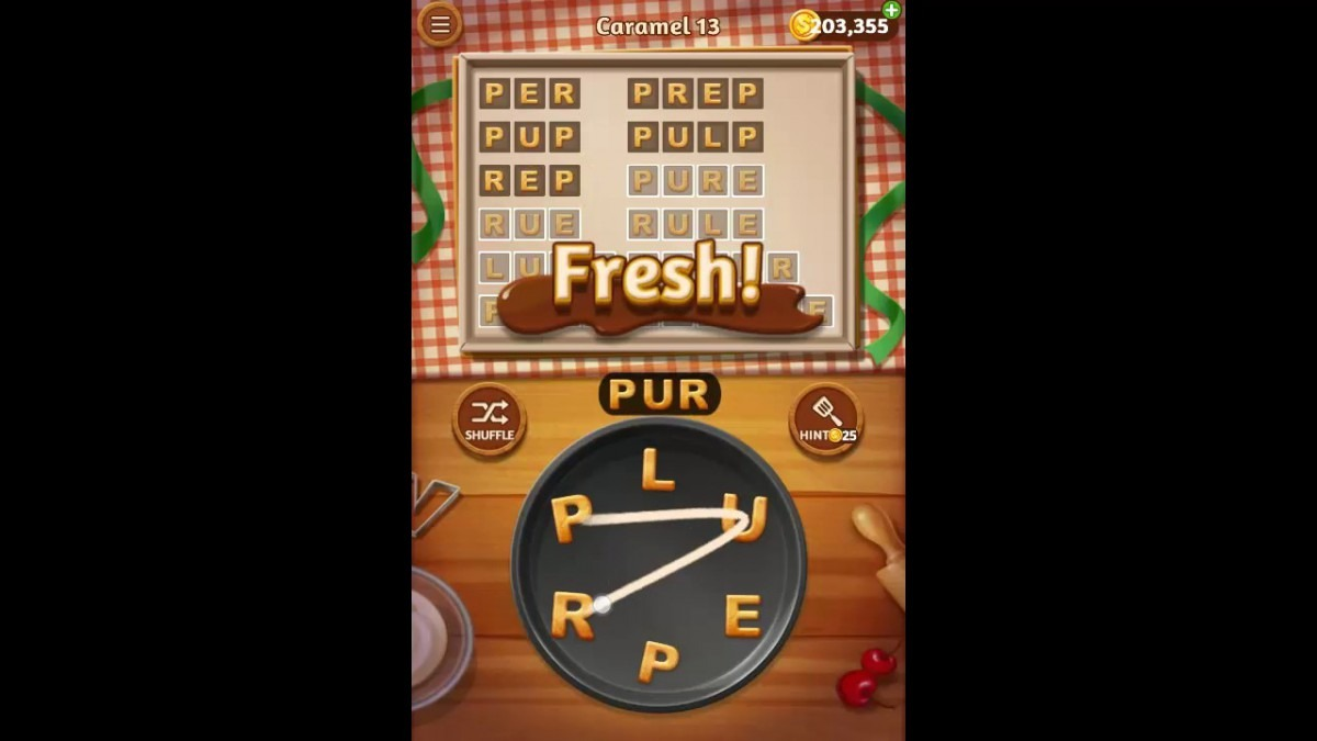 Word Cookies Caramel Pack Level 13 Answers