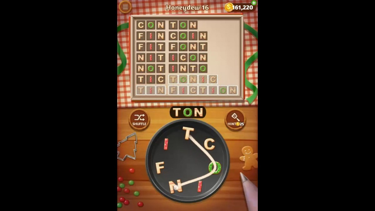 Word Cookies Honeydew Pack Level 16 Answers