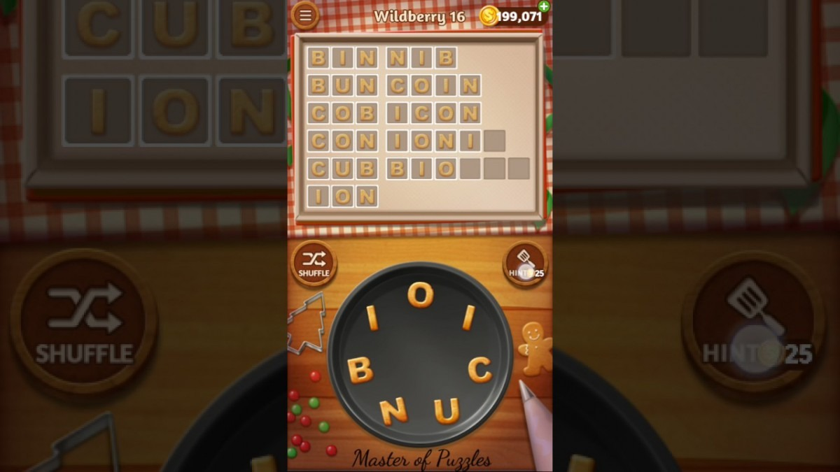 Word Cookies Wildberry Level 16 Celebrity Chef Solved