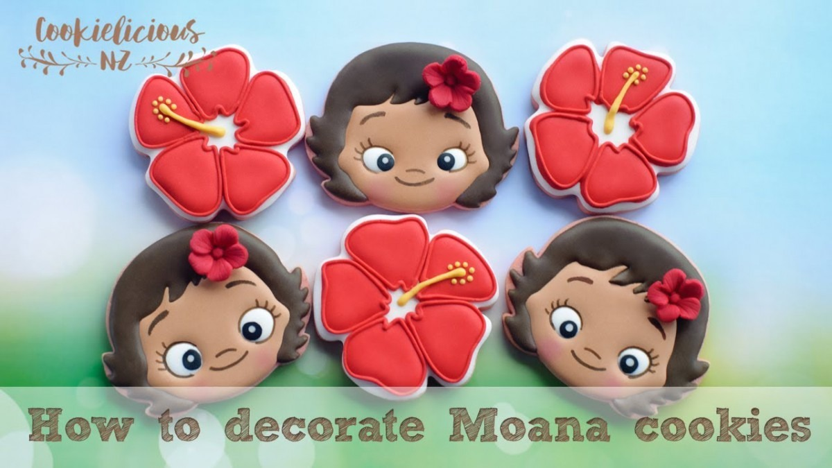 How To Make Baby Moana Cookies ~ Step By Step Cookie Tutorial