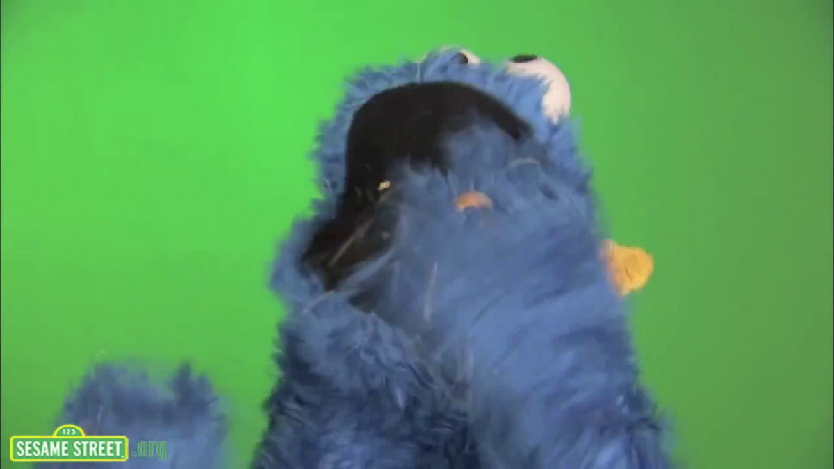Crazy Cookie Monster Eating A Cookie (from  Sesame Street)