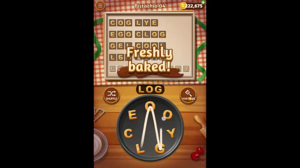 Word Cookies Pistachio Pack Level 4 Answers
