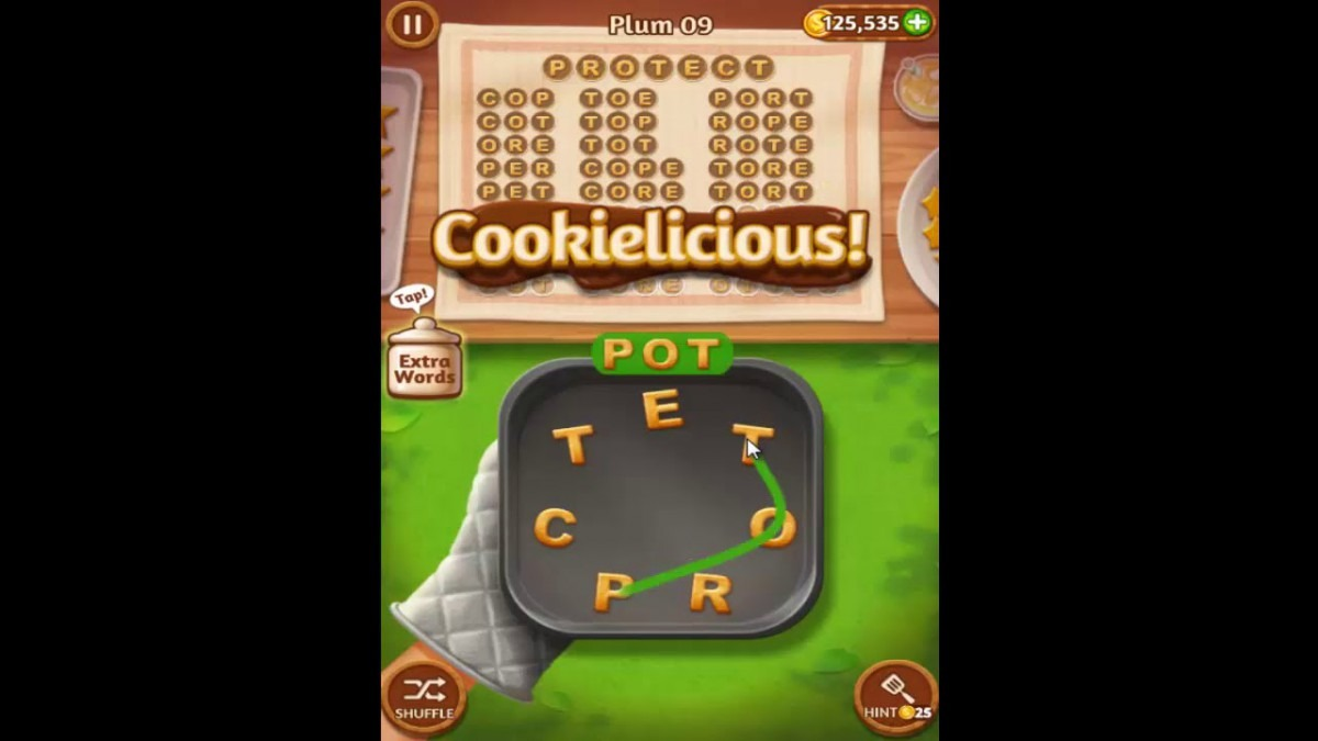 Word Cookies Plum Pack Level 9 Answers