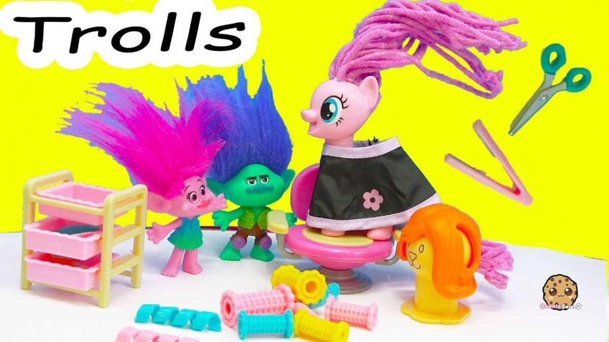 My Little Pony Twisty Twirly Wax Hair Style With Trolls Poppy