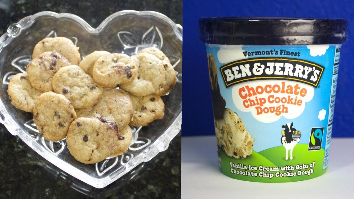 Baking Ben And Jerry's Chocolate Chip Cookie Dough From The Ice