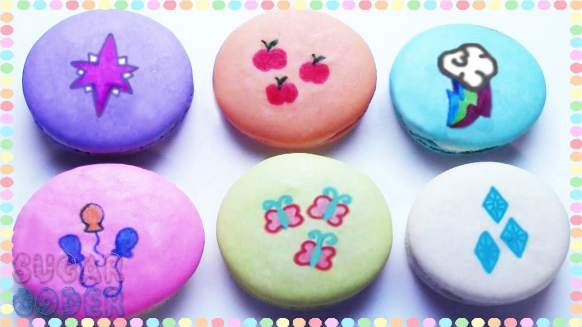 My Little Pony Macarons, My Little Pony Cookies (cutie Marks