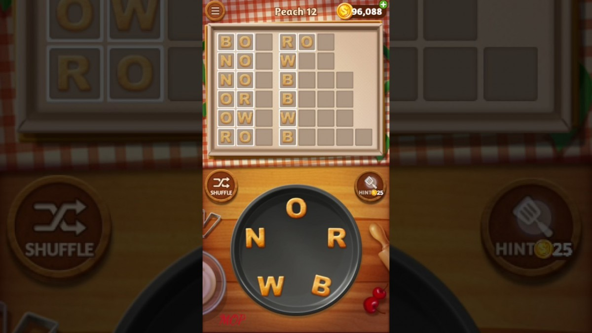 Word Cookies Peach Level 12 Talented Chef Solved