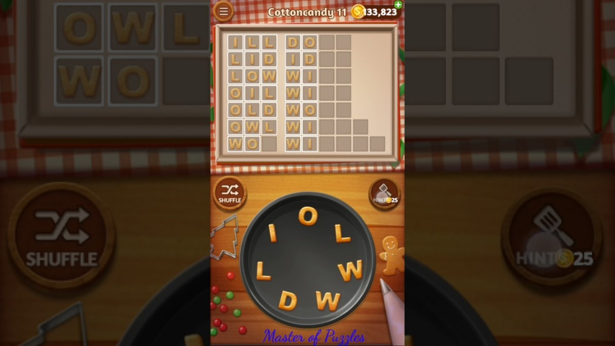 Word Cookies Cottoncandy Level 11 Celebrity Chef Solved