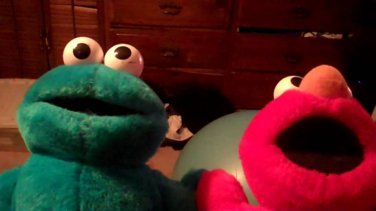 Tickle Me Elmo And Cookie Monster