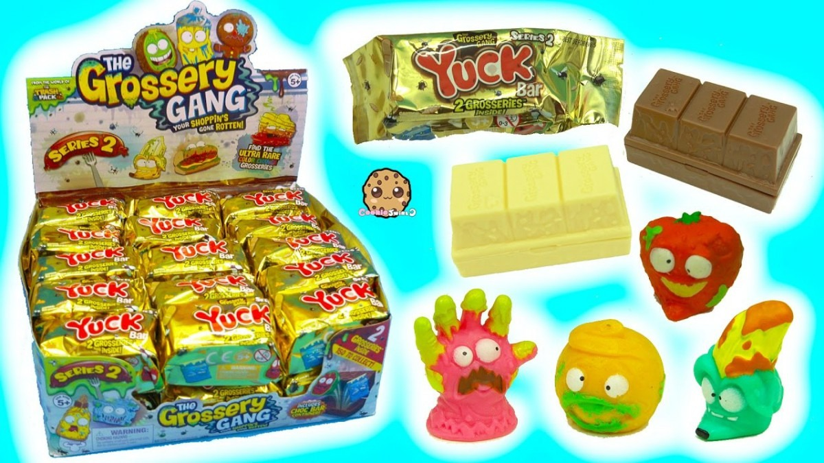 Full Box 30 Series 2 Yuck Candy Bar Surprise Blind Bags With Color