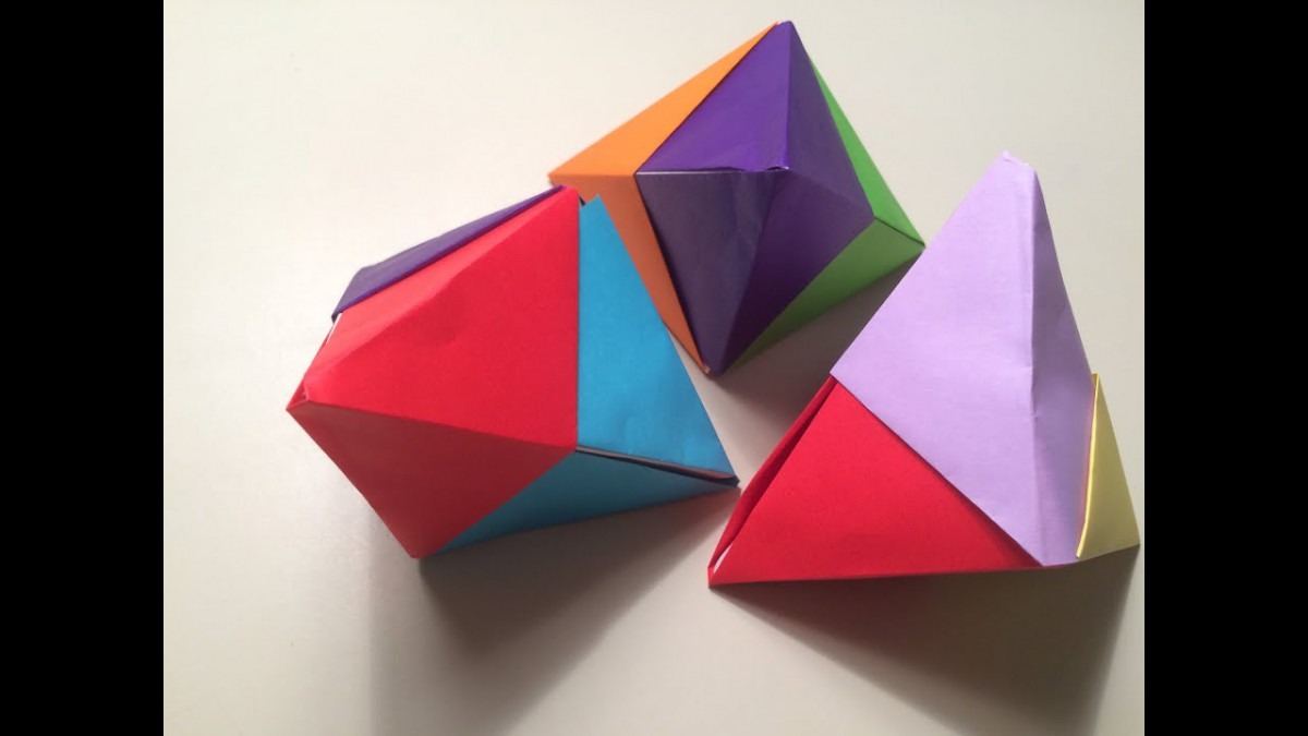 Origami Fortune Cookie 3d