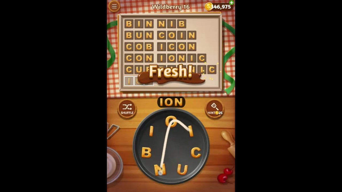 Word Cookies Wildberry Pack Level 16 Answers