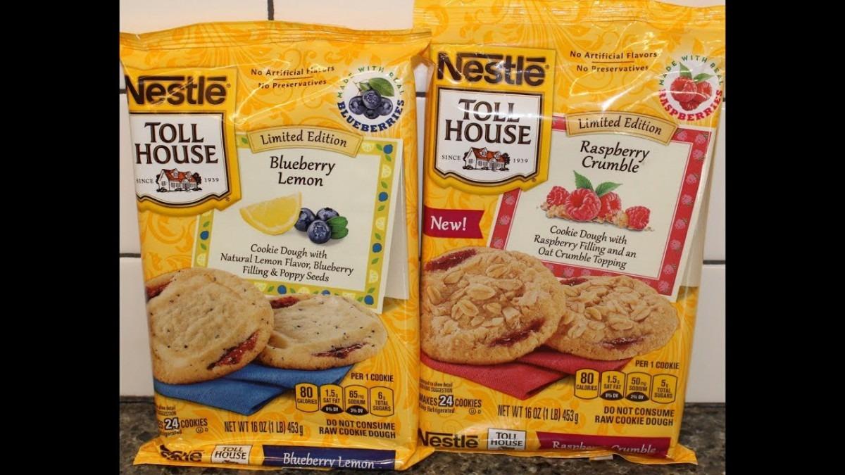 Nestle Toll House Cookies  Blueberry Lemon & Raspberry Crumble