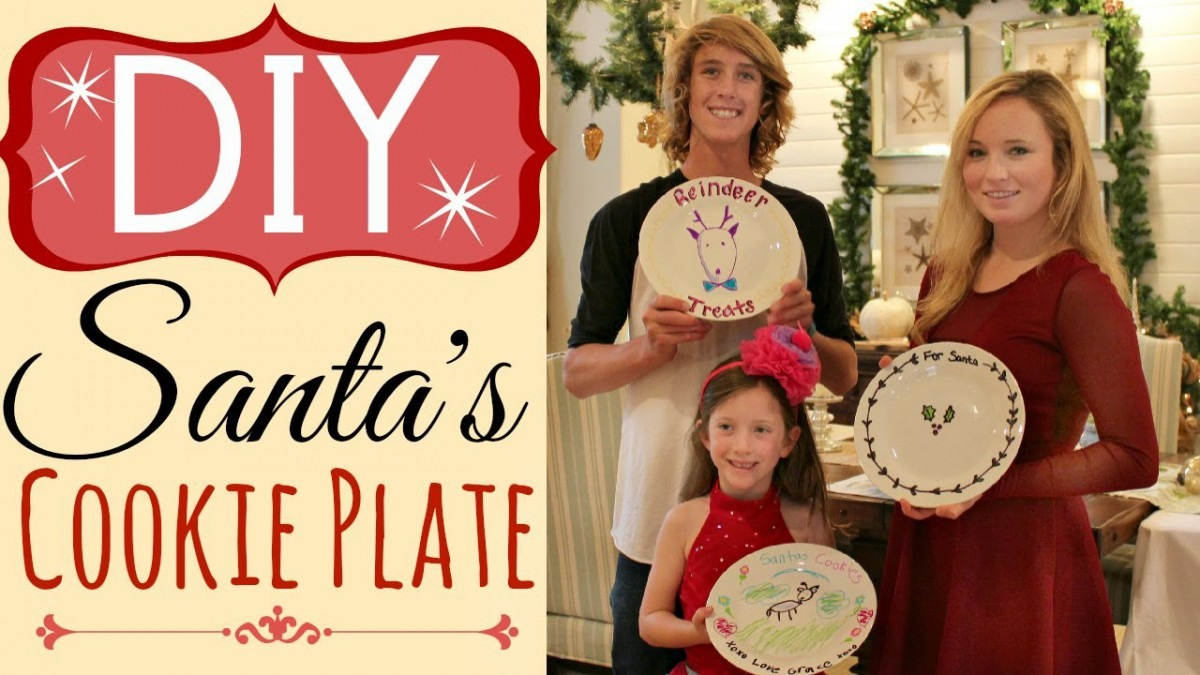 Diy Santa Cookie Plate (easy) With Sharpie Pens
