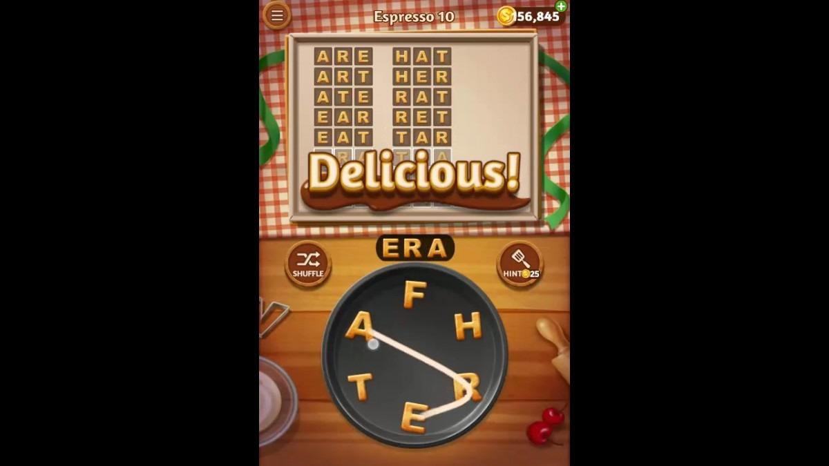 Word Cookies Espresso Pack Level 10 Answers