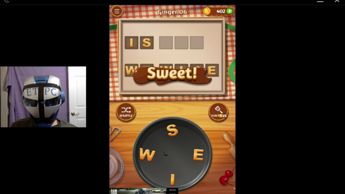 Word Cookies Ginger 06 Solved