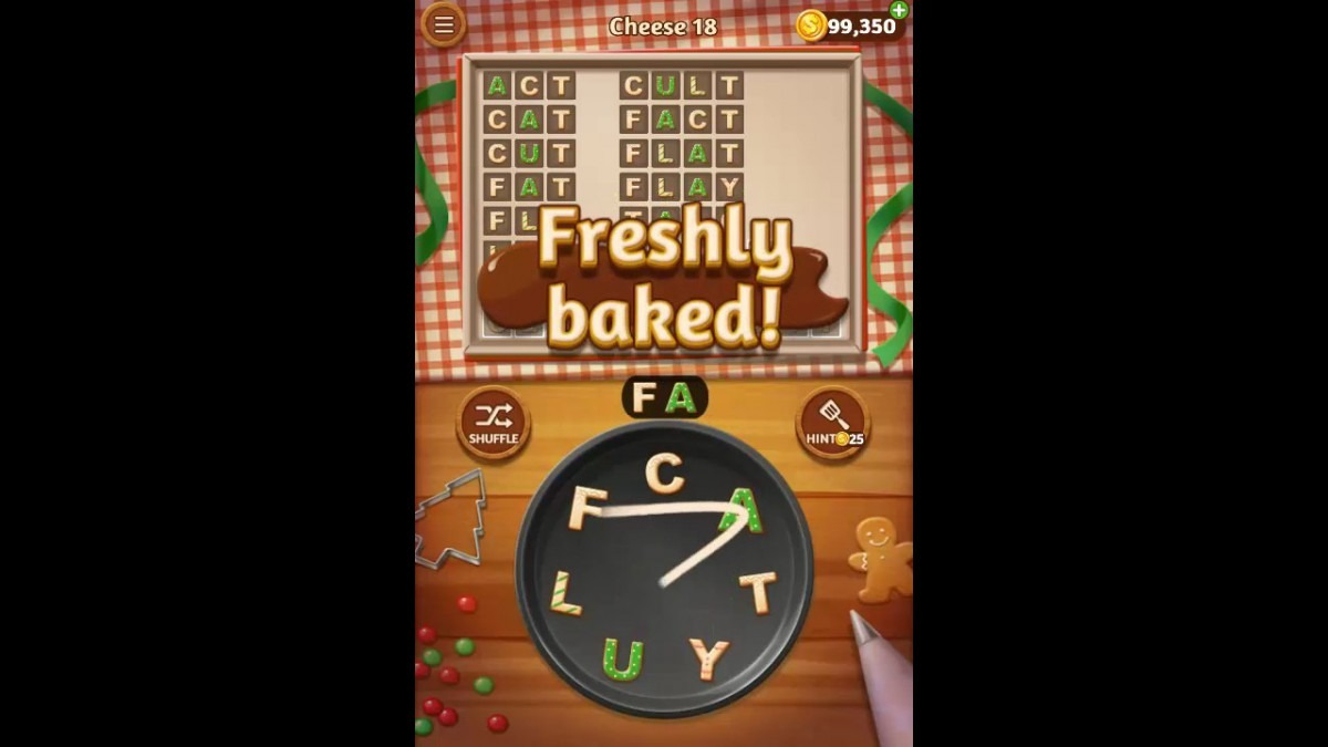 Word Cookies Cheese Pack Level 18 Answers
