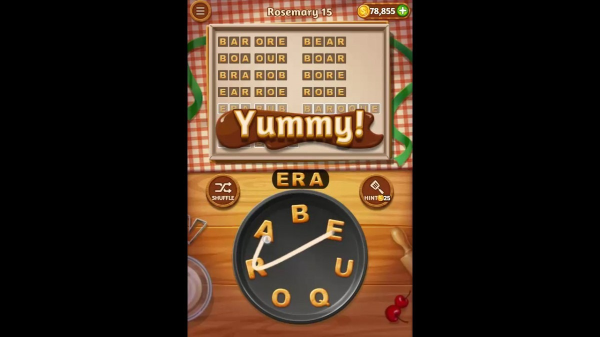 Word Cookies Rosemary Pack Level 15 Answers