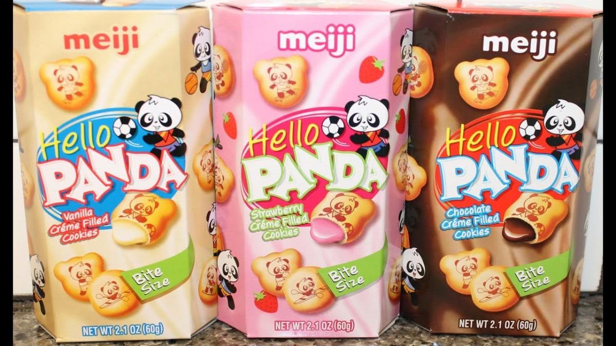 Meiji Hello Panda  Vanilla, Strawberry & Chocolate Crème Filled