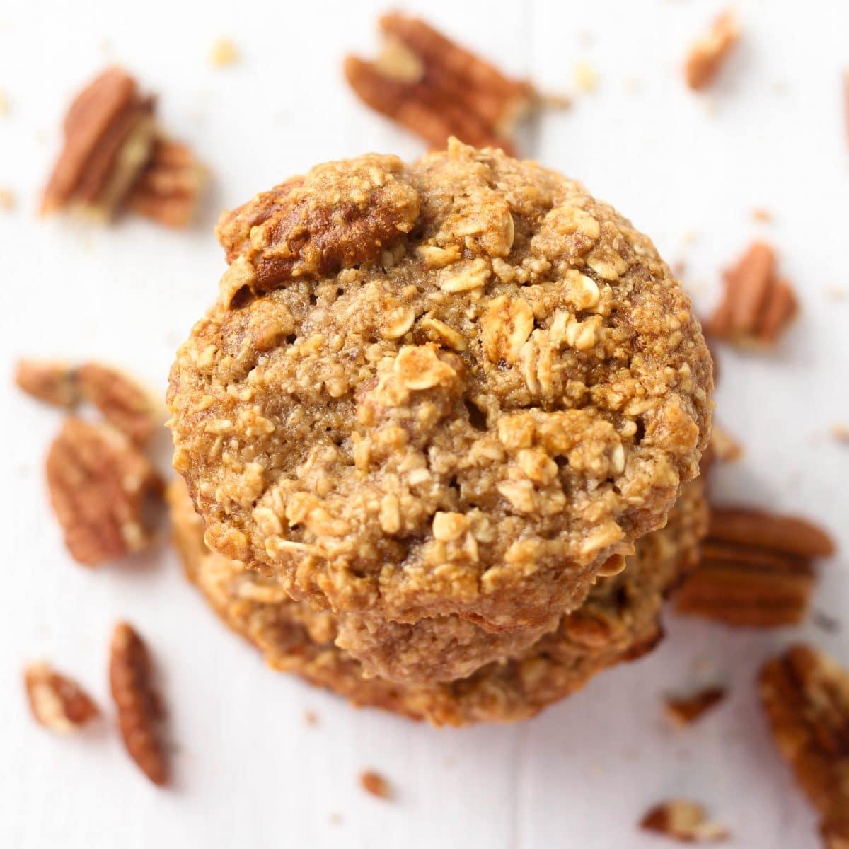 Healthy Oatmeal Pecan Cookies (dairy, Egg, & Gluten Free Cookies)