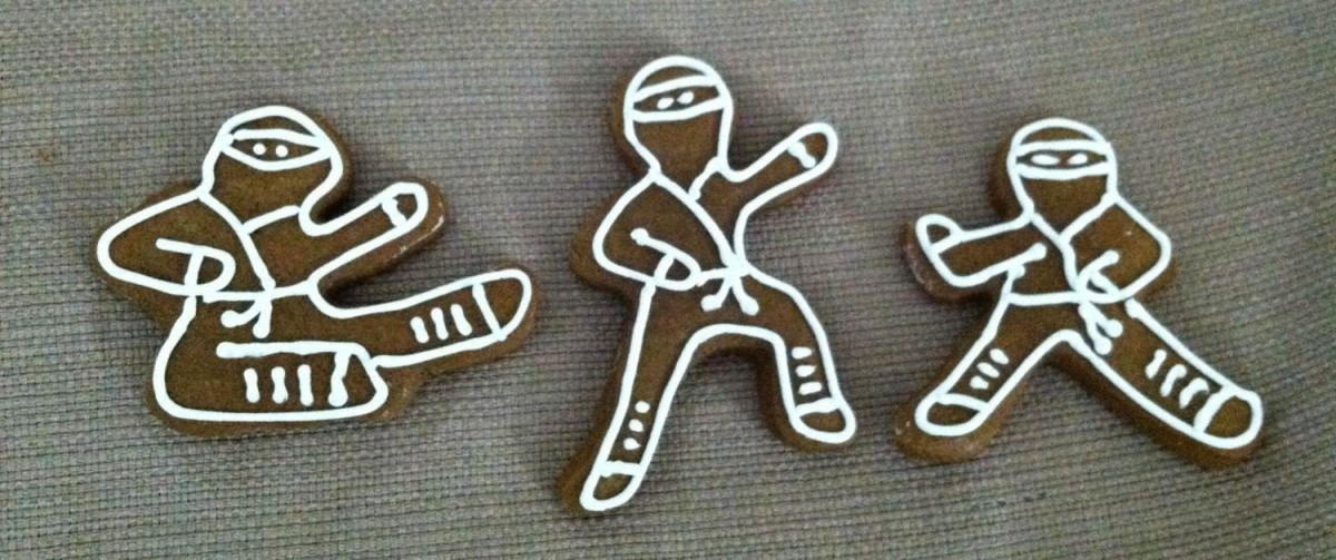 Julie Vision In The Kitchen  Gingerbread Ninjas (or Ninjabread Men)