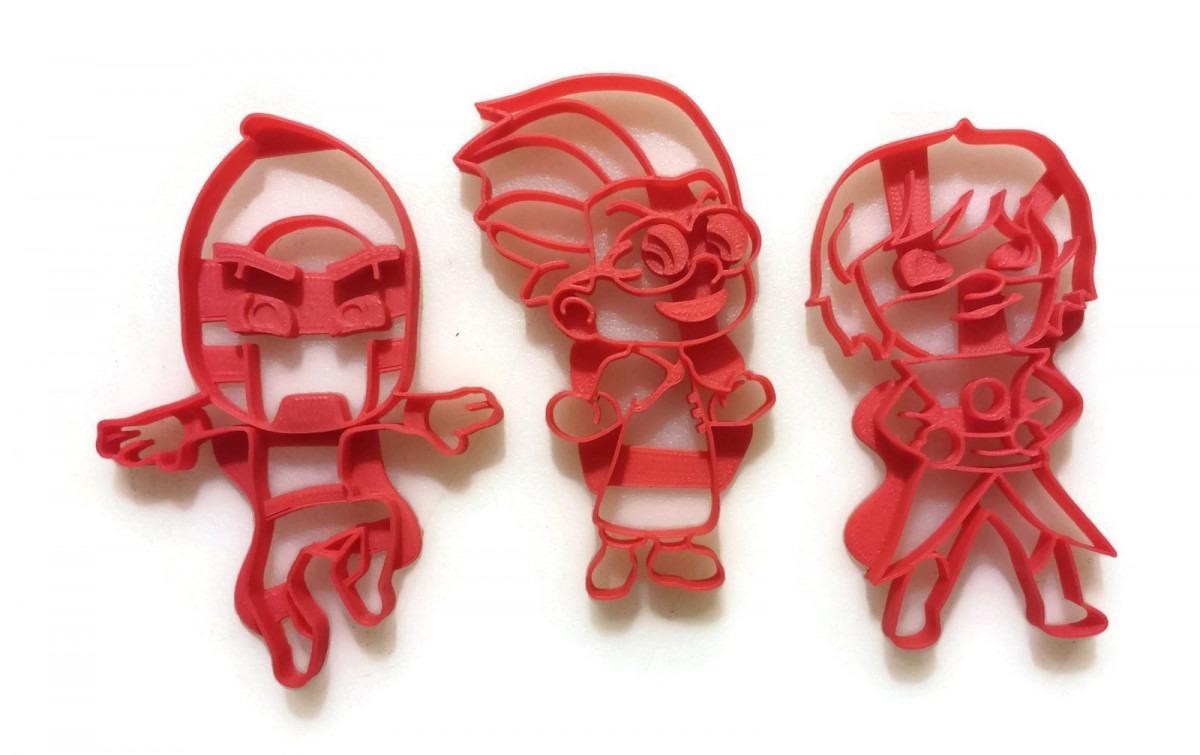 Pj Masks Villain Cookie Cutters Romeo, Night Ninja, Luna Girl
