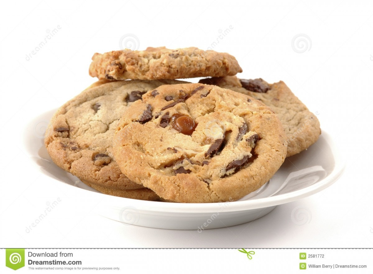 Plate Of Cookies Stock Photo  Image Of Chocolate, Snack