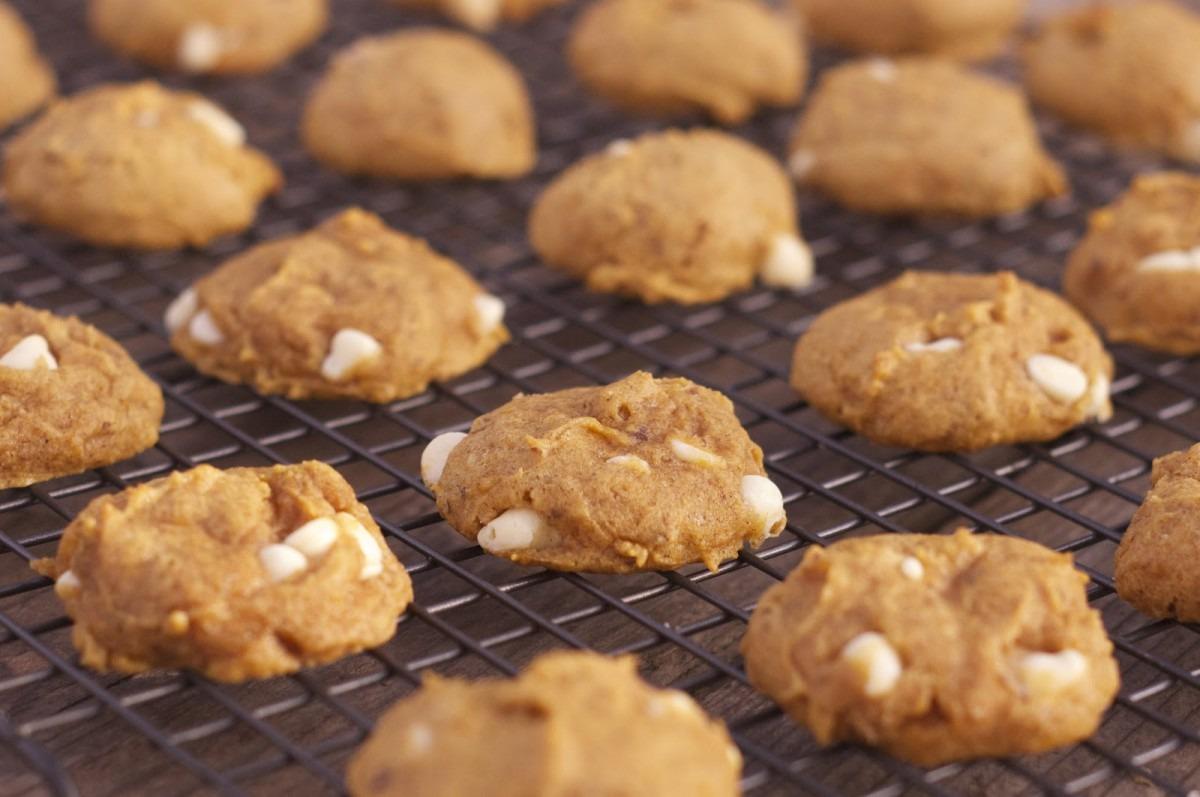 Pumpkin White Chocolate Chip Cookies ~ Hopes Kitchen