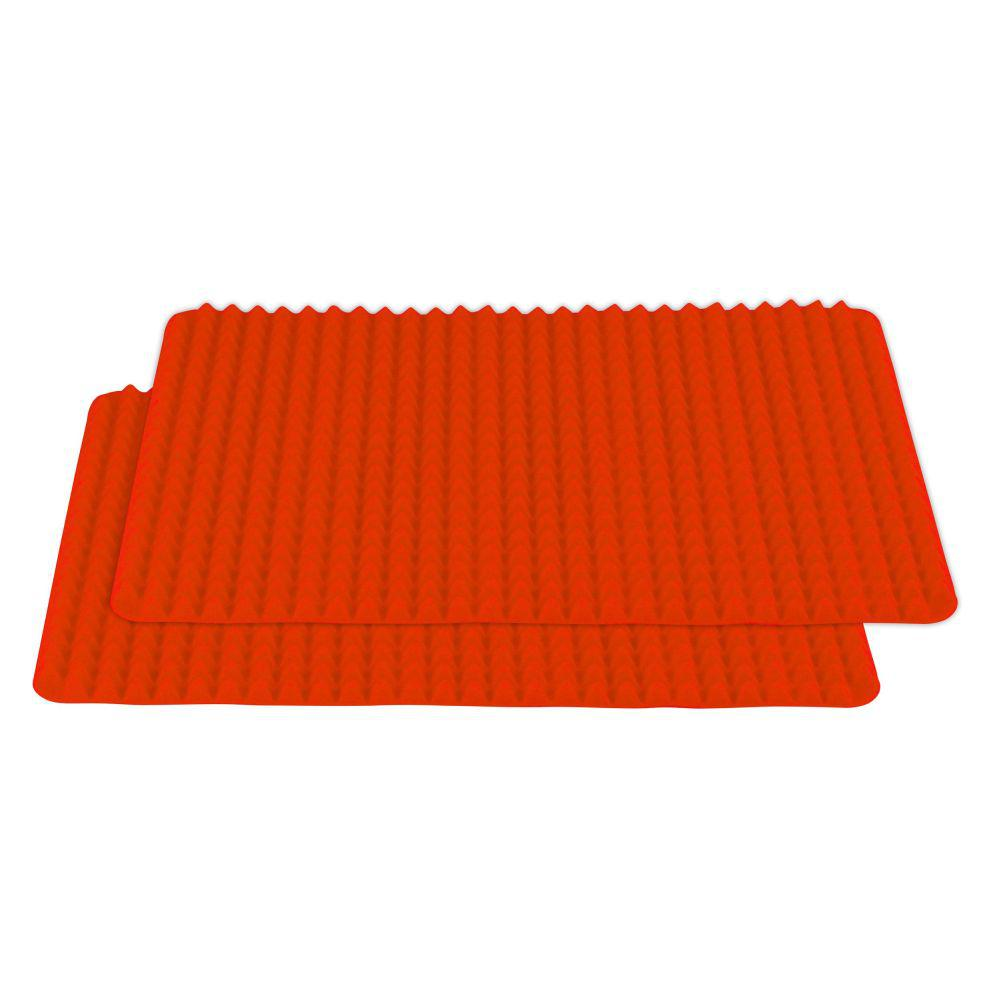 Southern Homewares Healthy Homewares Red Silicone Baking Sheet (2
