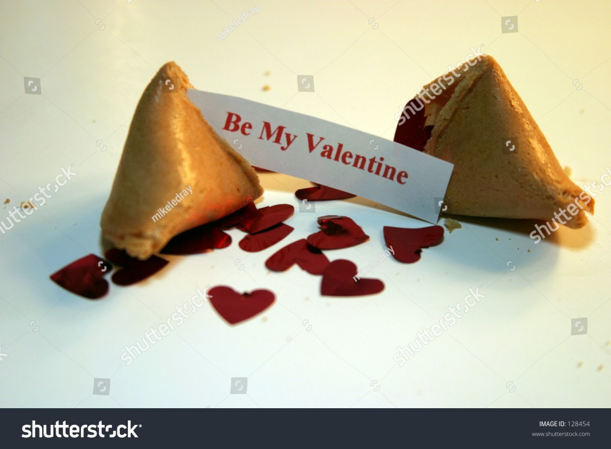 Be My Valentine Fortune Cookie On Stock Photo (edit Now) 128454