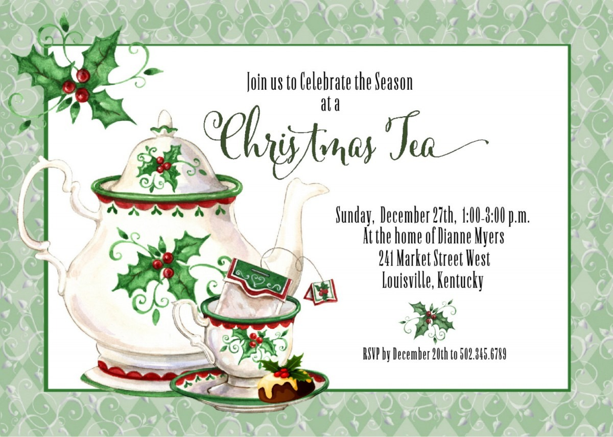 Inspirations  Casual Tea Party Invitations Designs For Your