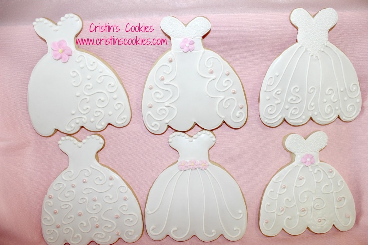 Cristin's Cookies  Wedding Dress Cookies And A New Cookie Cutter
