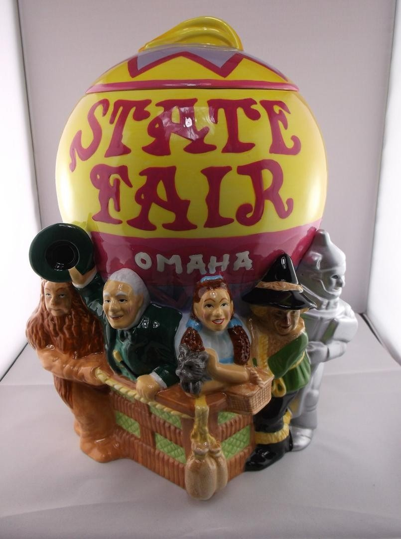 Wizard Of Oz Ceramic Cookie Jar Vintage 90's Warner Bros Nib State